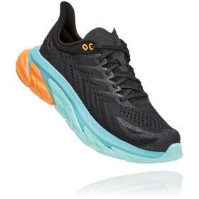 Hoka One One Clifton Edge Running Shoes Men, zwart/turquoise